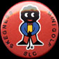 SLC Skegness Crazy Golf Tournament Tin Badge (Red)