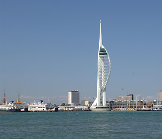 Spinnaker Tower taken from Portsmouth Hardbour whilst on board The Robertson's Golly yacht