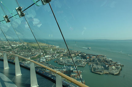 The views from Spinnaker Tower