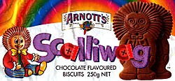 Arnott's Scalliwag biscuit wrapper