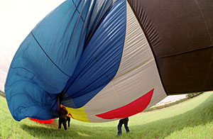 Inflating with cold air