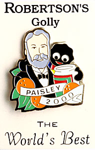 Paisley exhibition brooch featuring James Robertson