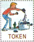 Roald Dahl Token featuring Charlie Bucket with no equivalent badge